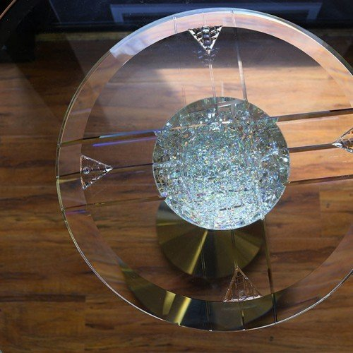 Copy of Front view of Martini Table.Glass