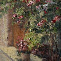 Mary Erickson, Bonnieux Roses, Oil on Linen, 11x14