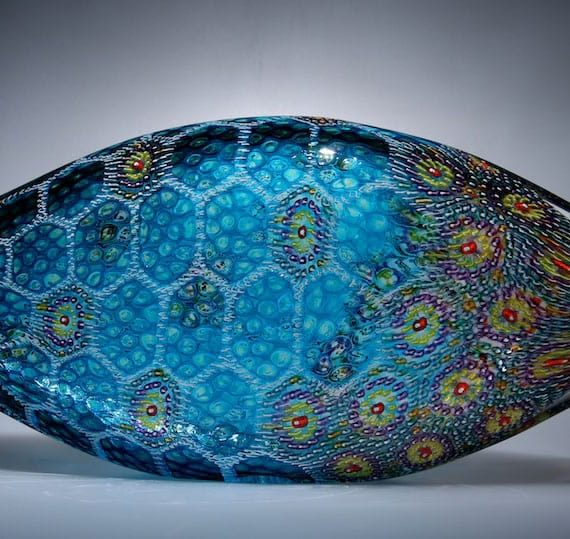Blown glass;murrine Reef Dweller Piscine by David Patchen