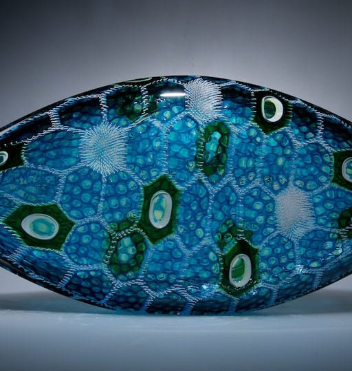Blown glass;murrine Resplendent Piscine by David Patchen