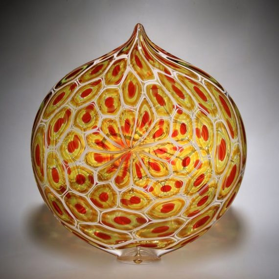 Blown glass; murrine Sunset Ellipse by David Patchen