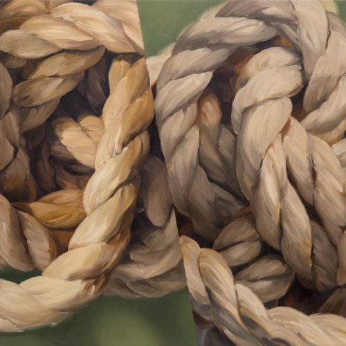Oil on canvas Untitled (rope #2) by Susan Brenner