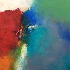 Oil on canvas Deserve by Javier Lopez Barbosa