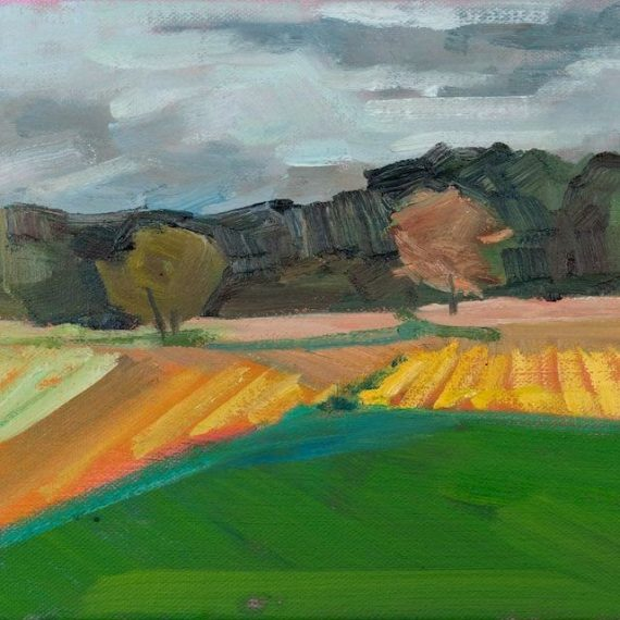 Oil on canvas After the Harvest by Jessica Singerman