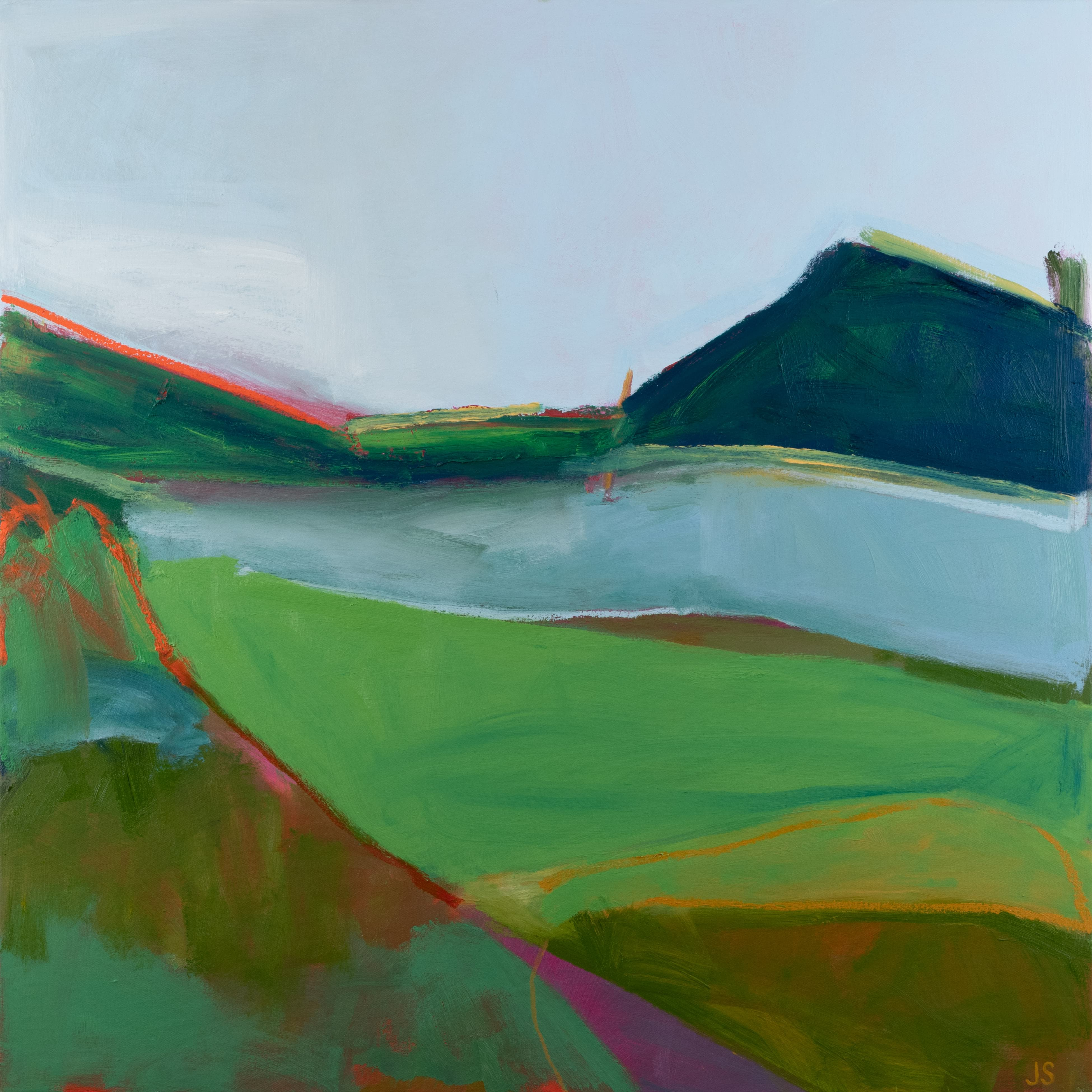 Acrylic and oil on canvas Where the Field Begins by Jessica Singerman