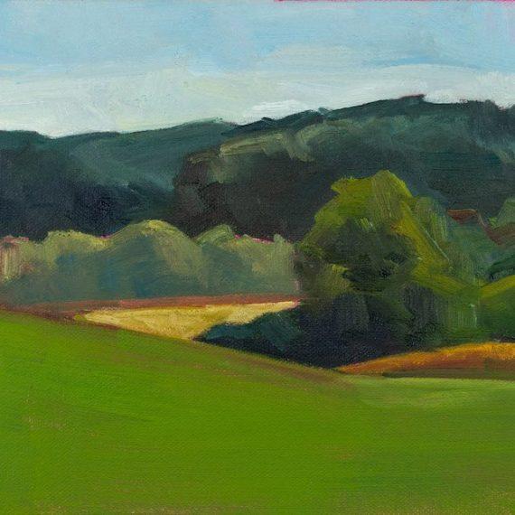 Oil on canvas Yadkin River Vallery Jessica Singerman