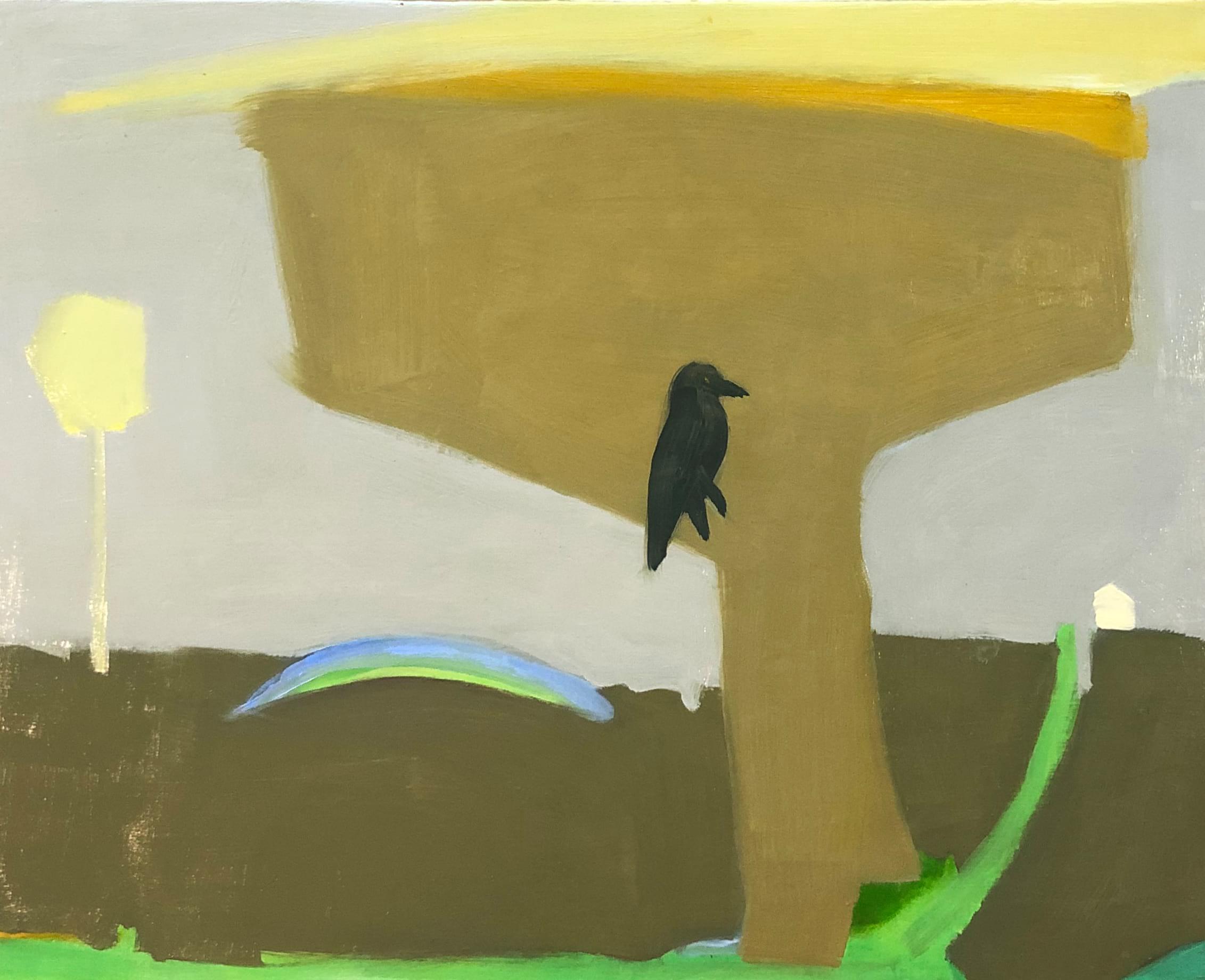 Oil on canvas Rural Rainbow by Kathleen Craig