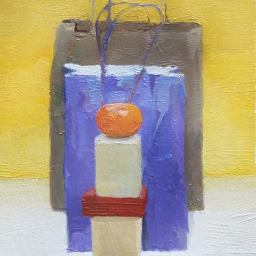 Oil on paper on board Study for a Still Life by Greg Siler