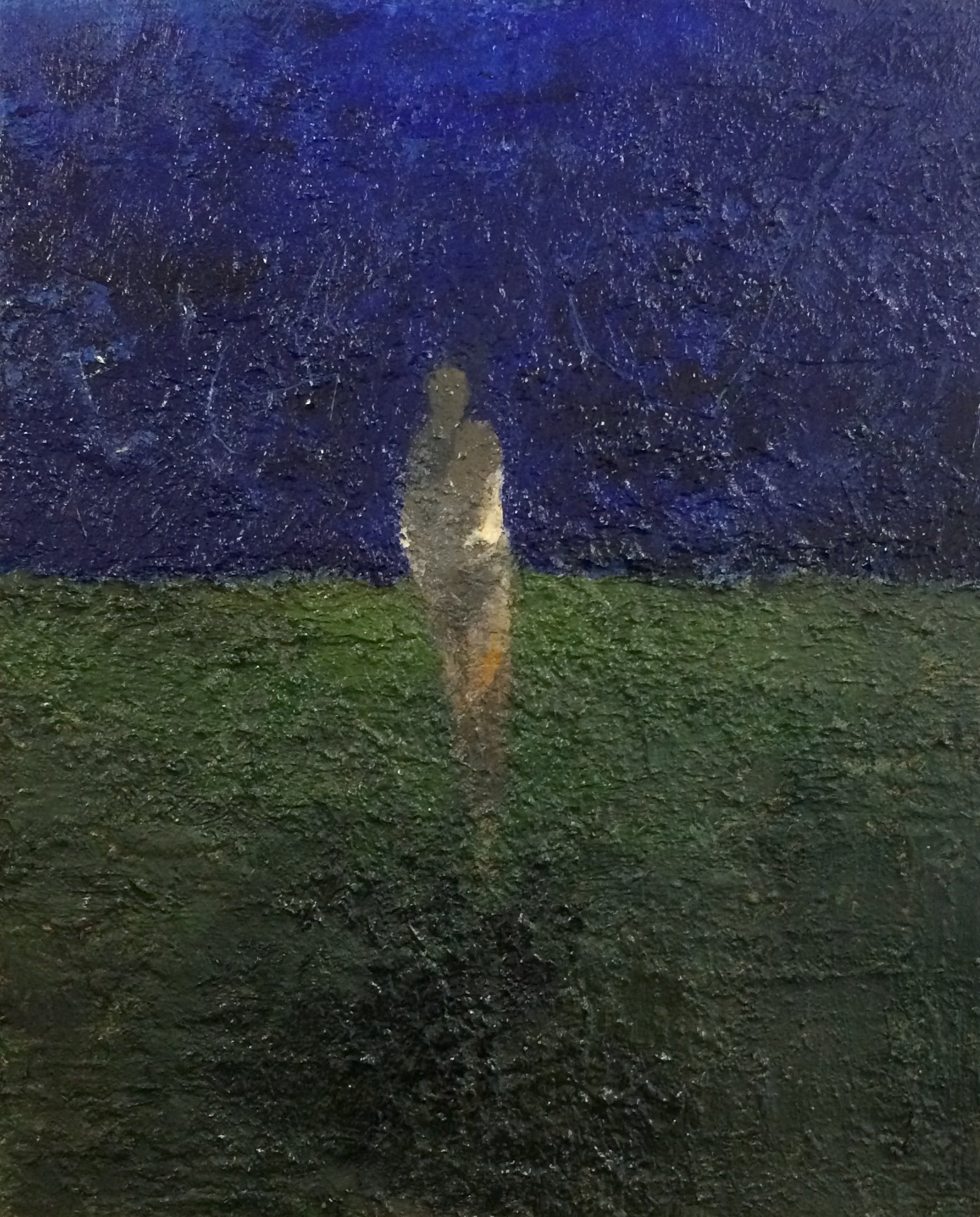 Oil on canvas Dark Figure by Greg Siler