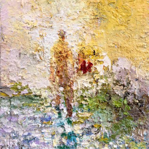 Oil on canvas Sun Figure by Greg Siler
