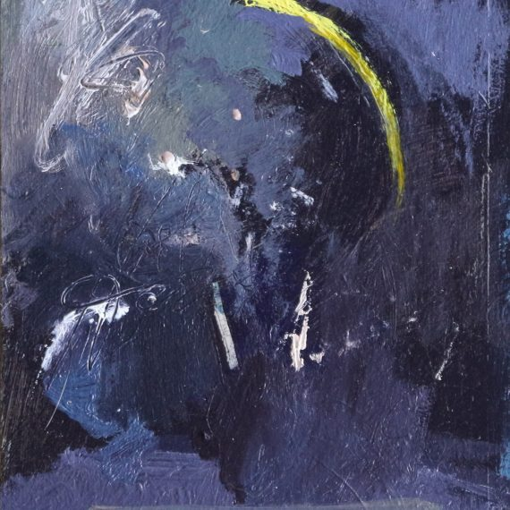 Oil on paper on board Rudiments (Nocturne) by Greg Siler