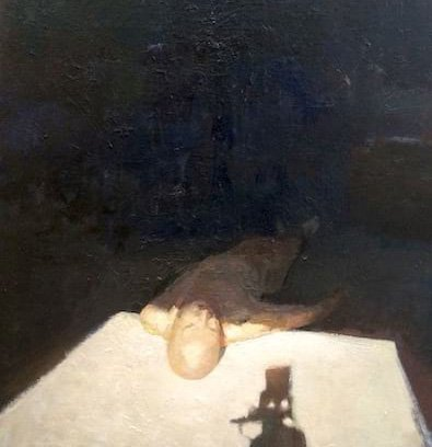 Oil on paper on board Light by Greg Siler
