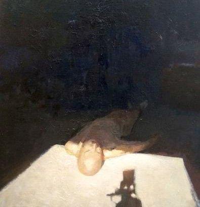 Oil on paper on board Light by Greg Siler