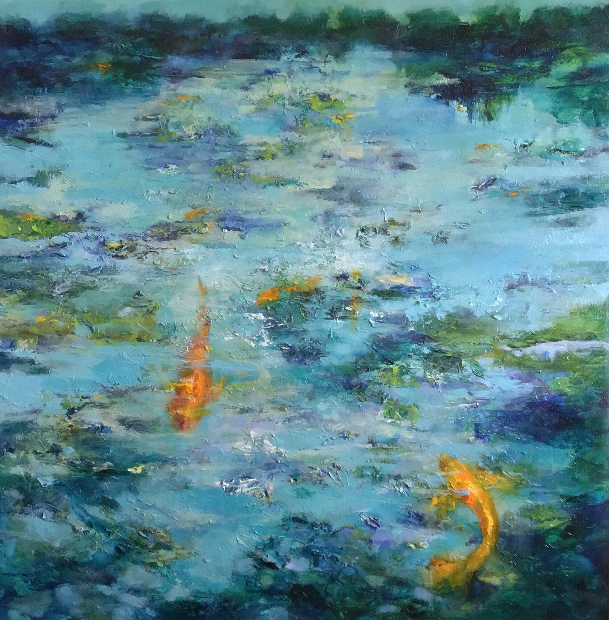 Oil on canvas Fish Dreams I by Jill Jones