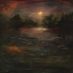 Oil on canvas Old Stoner's Pond by Jill Jones