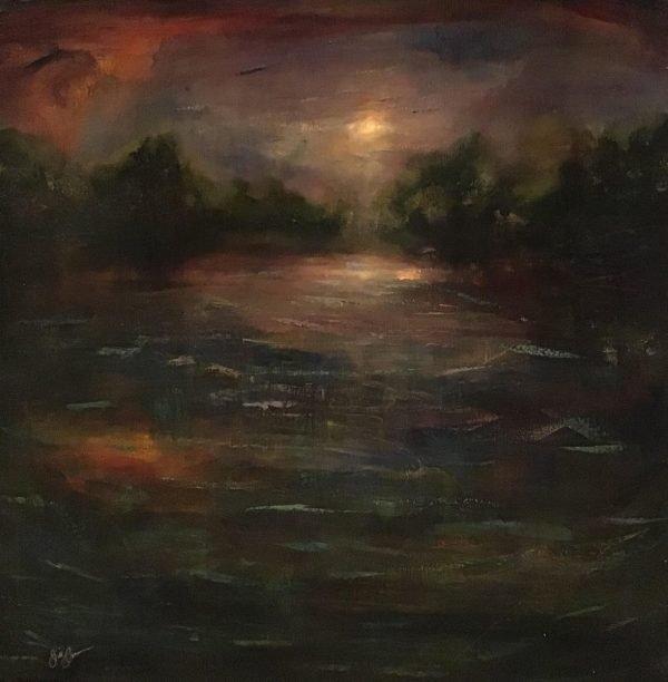 Oil on canvas Old Stoner's Pond by Jill Jones