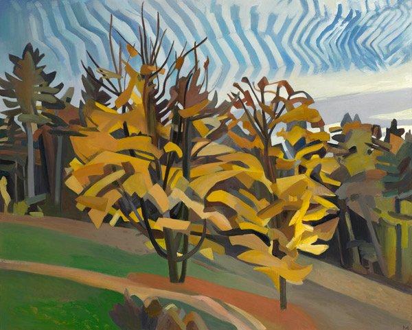 Oil on canvas Mackerel Sky by Martha Armstrong